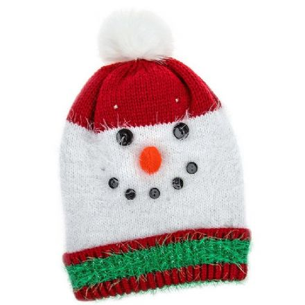 Christmas Snowman Quality LED Hat